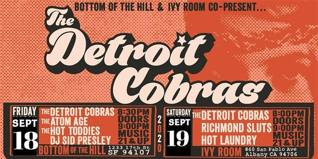 The Detroit Cobras, The Richmond Sluts, Hot Laundry