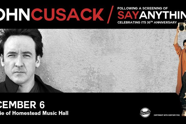 John Cusack Live plus a screening of Say Anything