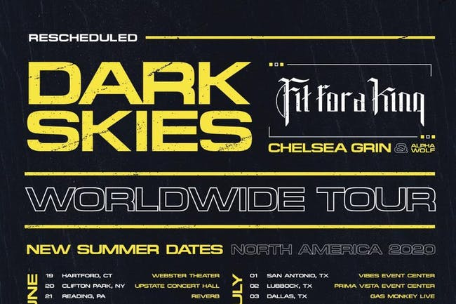 Fit For A King: Dark Skies Tour (RESCHEDULED from 04/03/20)