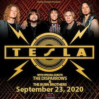 Tesla - RESCHEDULED DATE (4/15 TICKETS HONORED)