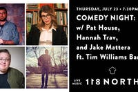 Music & Comedy Night: Pat House, Hannah Trav, and Jake Mattera