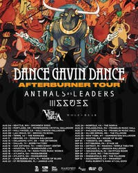DANCE GAVIN DANCE, ANIMALS AS LEADERS, ISSUES, VEIL OF MAYA, WOLF & BEAR