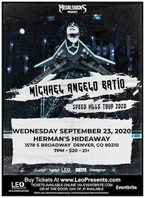 Michael Angelo Batio Speed Kills Tour 2020 in Denver