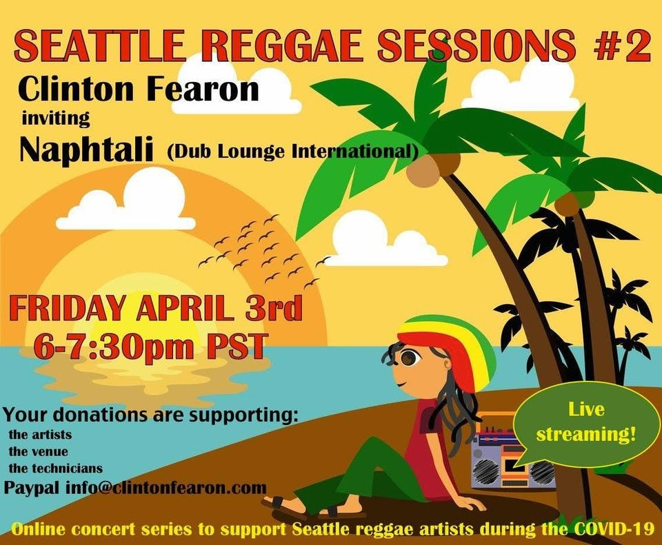 Seattle Reggae Sessions (LIVE STREAM) #2 Feat. Clinton Fearon