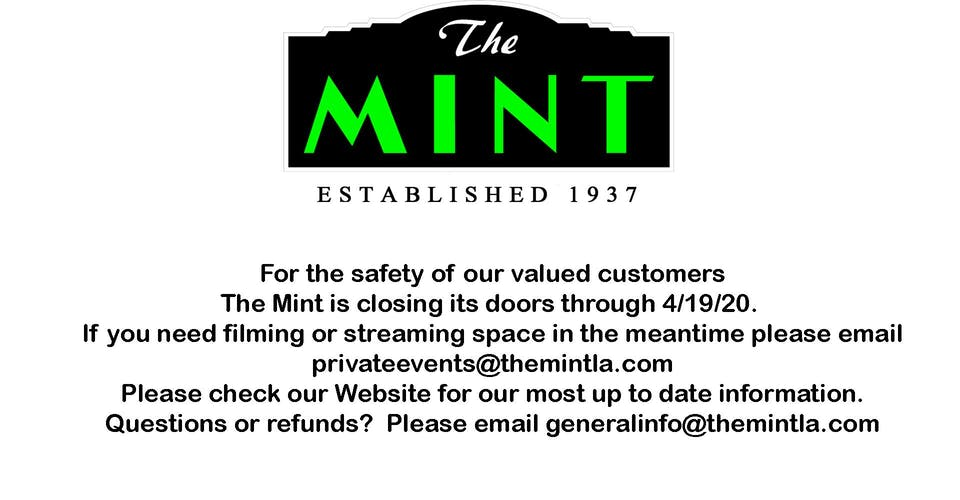 The Mint Will be Closed through  4/19