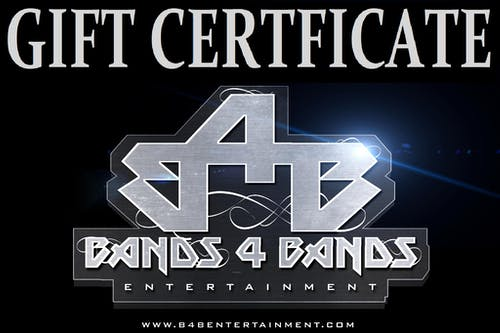 GIFT CERTIFICATE TO LIVE EVENTS