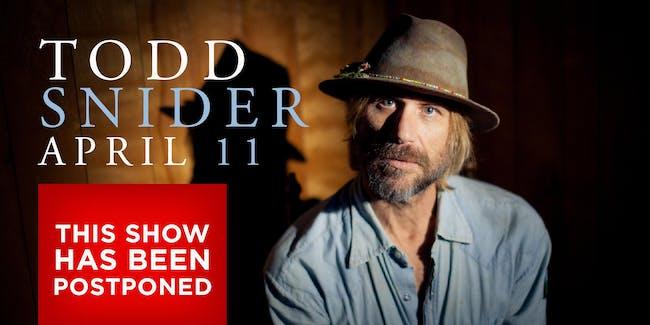 POSTPONED: Todd Snider