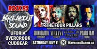 ROCK 95 BREAKOUT SOUND: Cudbear, Uforia & Overcrook + THE FOUR PILLARS