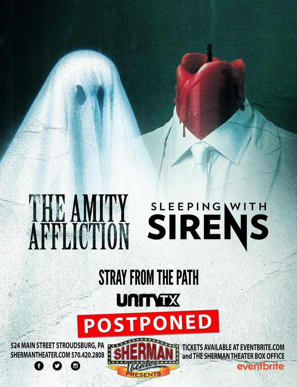 POSTPONED: The Amity Affliction and Sleeping With Sirens