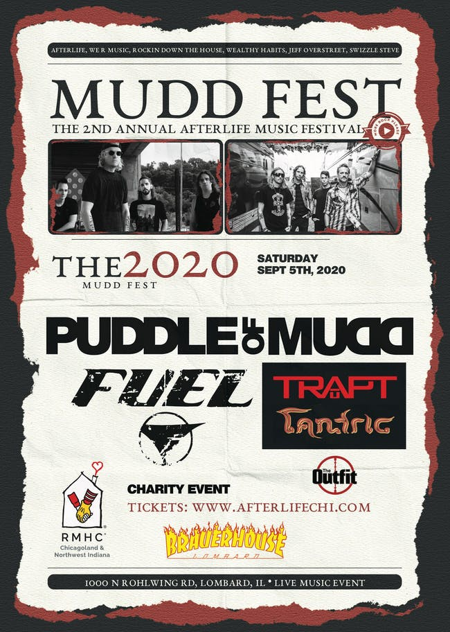 Mudd Fest 2020- Puddle of Mudd, Fuel, Local H, Tantic & More