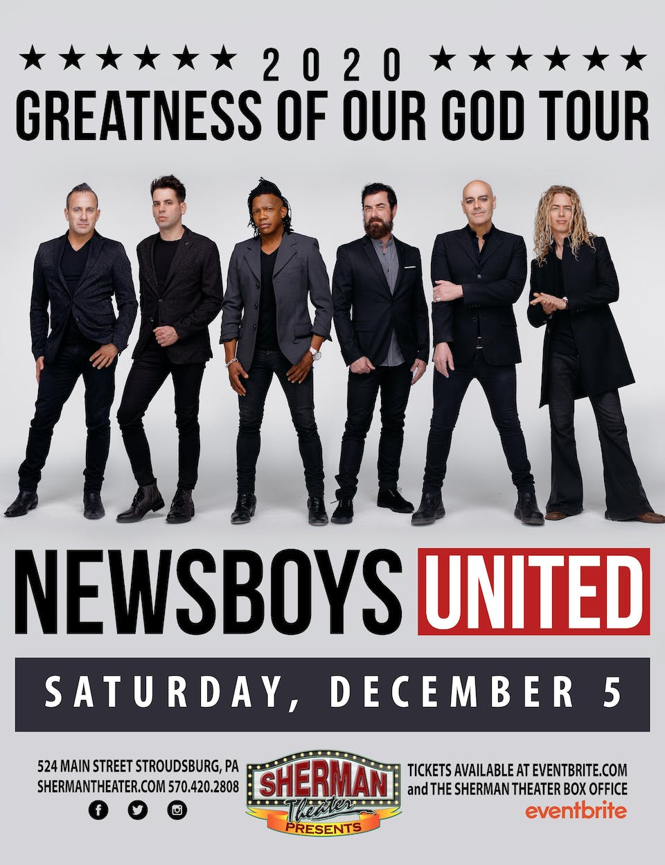 *MARCH 13th DATE* Newsboys UNITED - Greatness Of Our God Tour