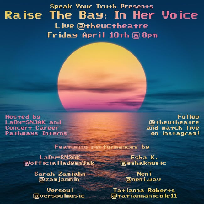 Raise the Bay: In Her Voice (STREAMING LIVE!)