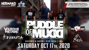 PUDDLE OF MUDD ALBUM TOUR/ Postponed