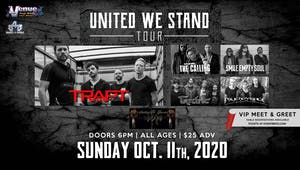 Trapt, The Calling, Tantric, Smile Empty Soul New date is 10/11