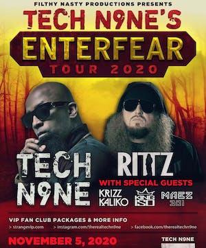 """NEW DATE:  Tech N9ne """"EnterFear Tour"""" w/ Ritz"""