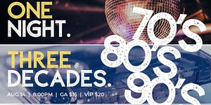Dance to The Decades - 70's, 80's, and 90's with DJ D