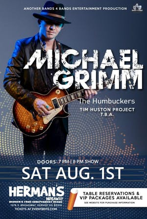 Michael Grimm  ( New date is now 8/1/20) All tickets are transferred!
