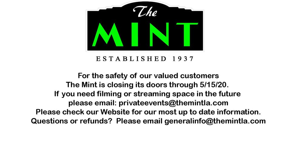 The Mint Will be Closed through  5/15