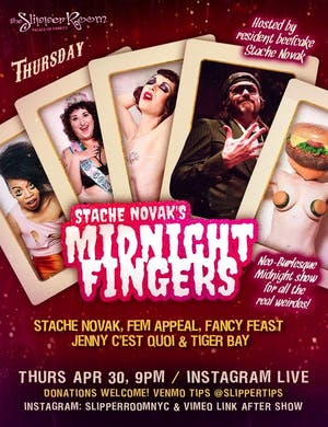 Stache Novak's Midnight Fingers in Exile Video Link